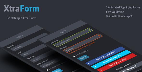 CodeCanyon XtraForm Bootstrap 3 Xtra Animated Form 7506013