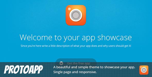 ProtoApp - Responsive Single Page App Showcase