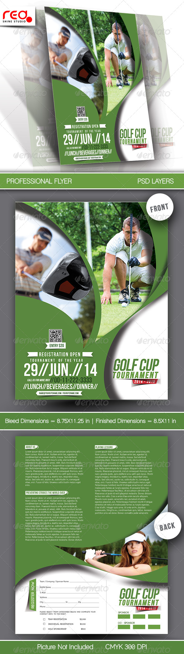 GraphicRiver Golf Cup Tournament Flyer Template 7506105