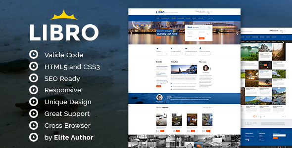 ThemeForest Libro Responsive HTML Template 7506134