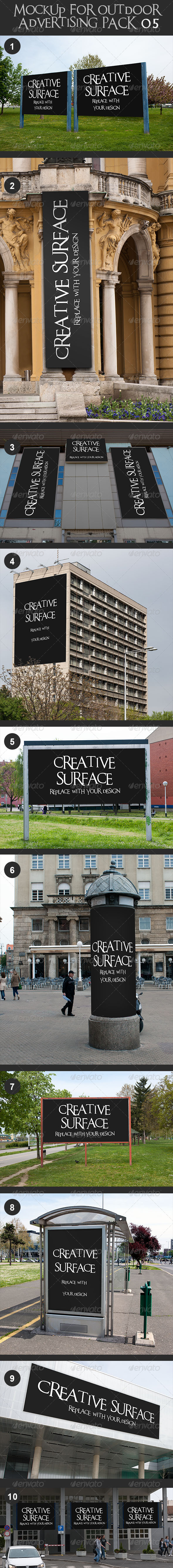 GraphicRiver 10 Mock Up s for Outdoor Advertising Pack 5 7506184