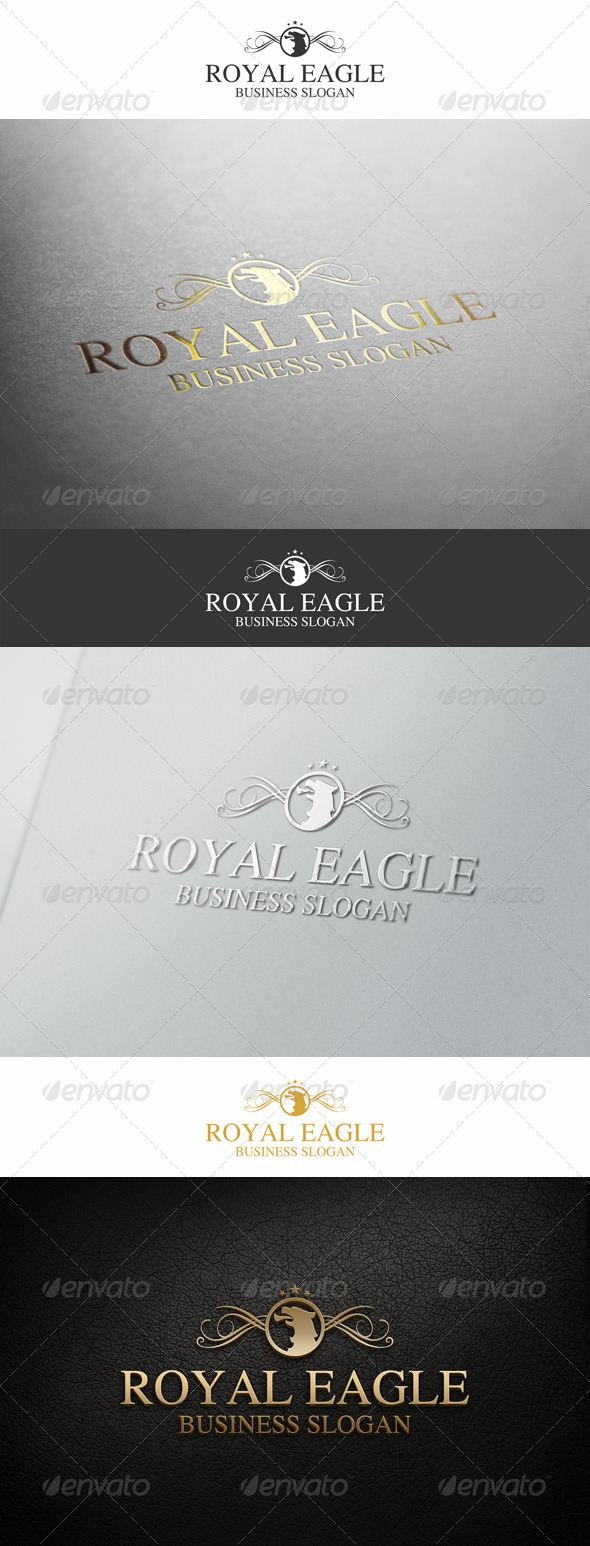 Royal Eagle Elegant Logo - Animals Logo Templates