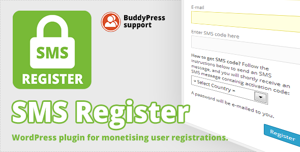 SMS Register is WordPress plugin for monetising user registration. If a visitor want to register account on your WP website, he needs to send SMS message follow