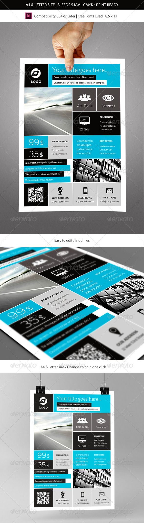 GraphicRiver Corporate & Business Commerce Flyer Template 7506242