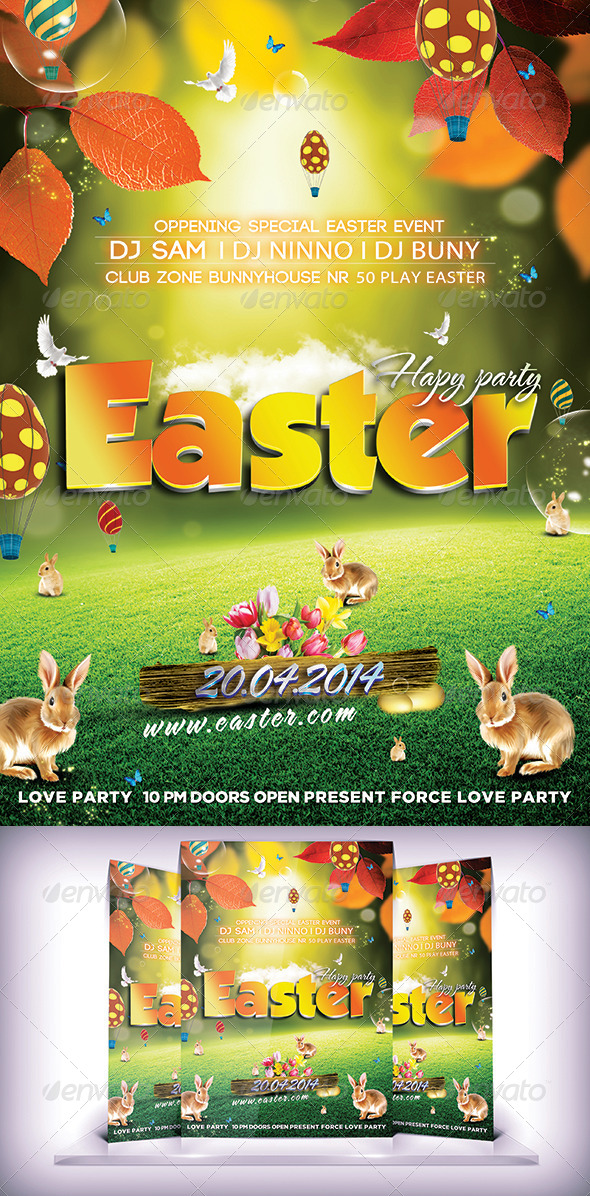 GraphicRiver Party Easter Day 7502197