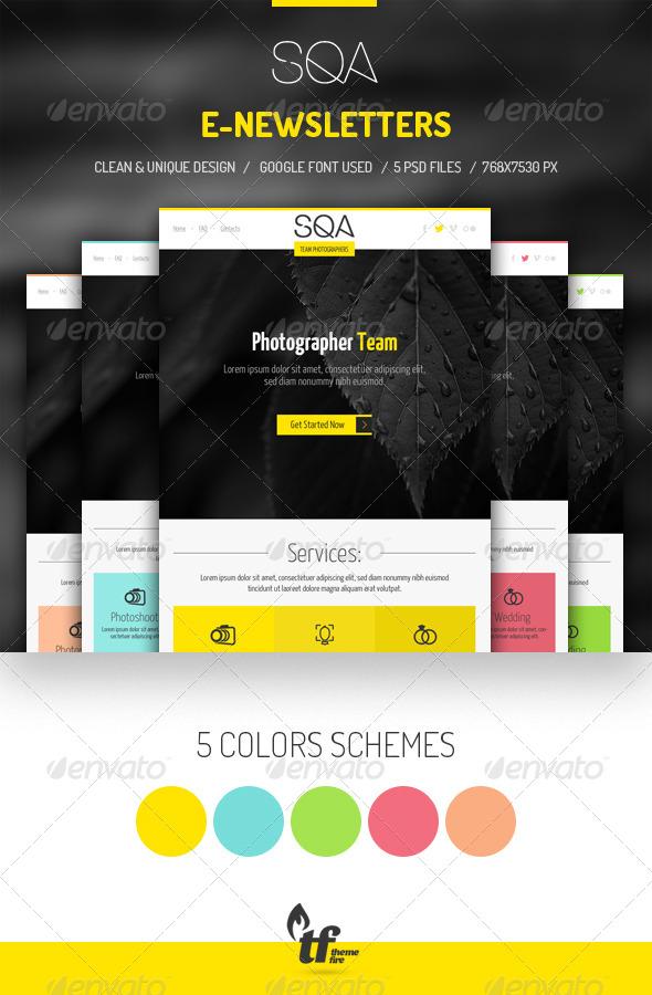 GraphicRiver SQA E-newsletters 7506275
