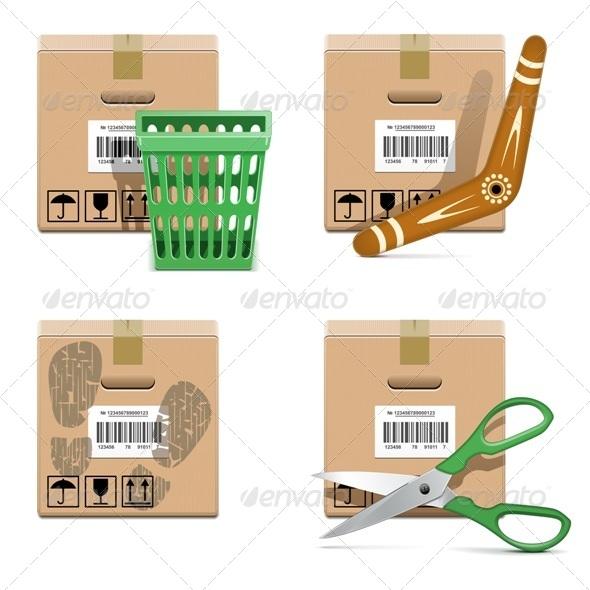 GraphicRiver Vector Shipment Icons Set 33 7506699
