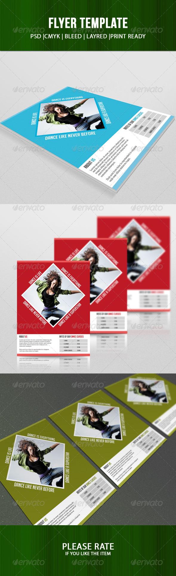 GraphicRiver Dance Studio Flyer 7506812