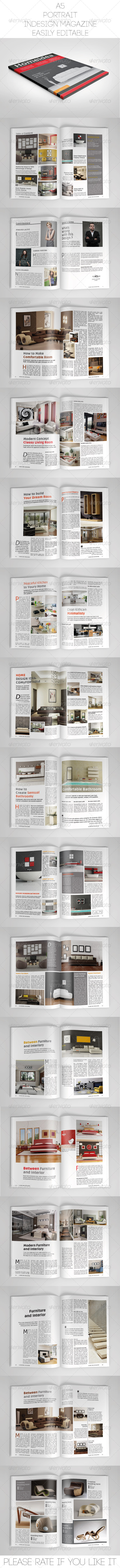 GraphicRiver A5 Portrait Indesign Magazine Template 7507145