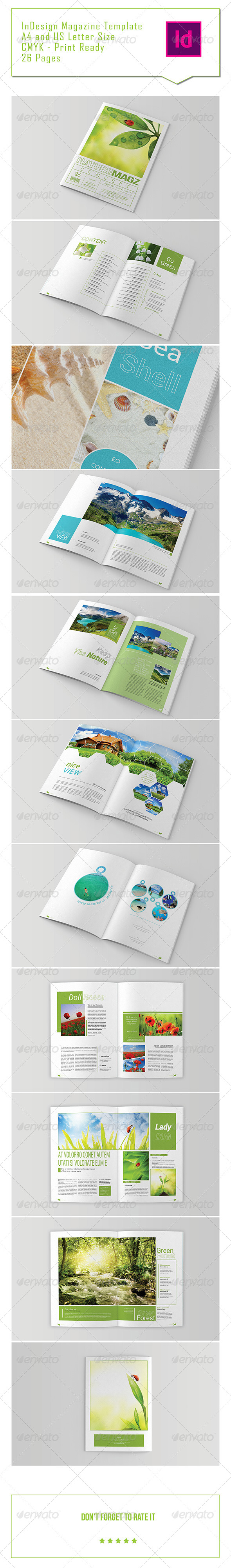 GraphicRiver Nature Magazine Template 7507303