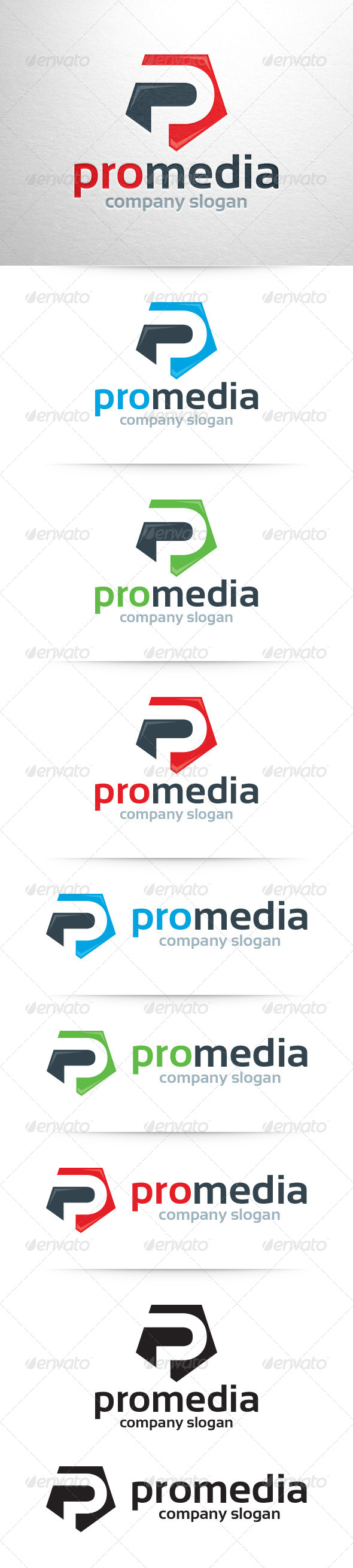 GraphicRiver Pro Media Letter P Logo 7507314