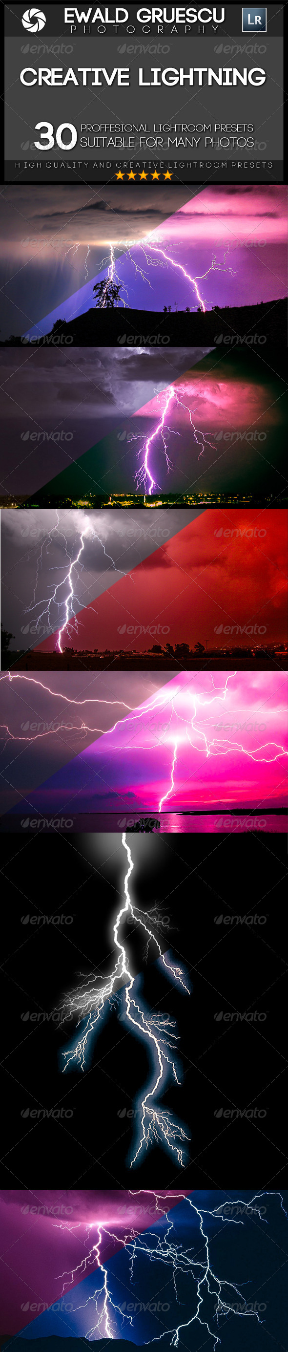 GraphicRiver 30 Lightning Lightroom Presets 7507327