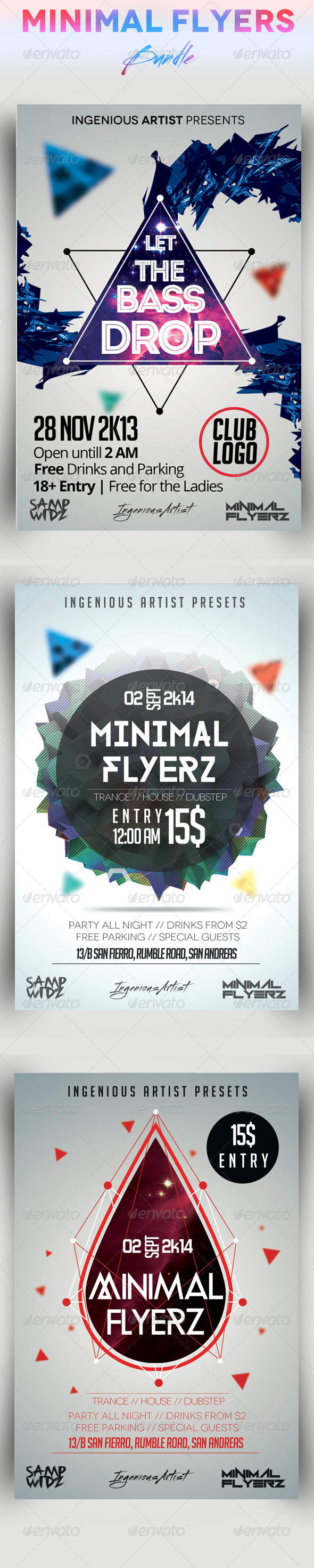 GraphicRiver Minimal Flyers Bundle Vol.3 7507429