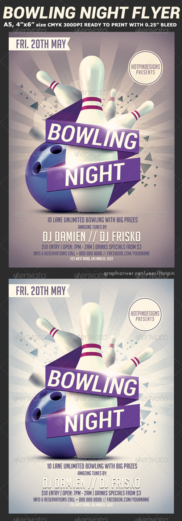 GraphicRiver Bowling Nights Flyer Template V2 7507498