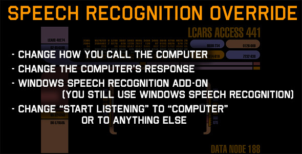 Windows Speech Recognition Override Add-on