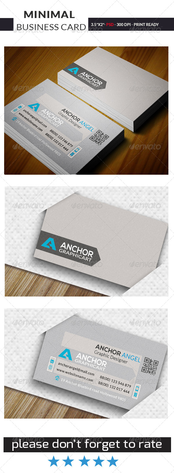 GraphicRiver Minimal Business Card 0010 7486137