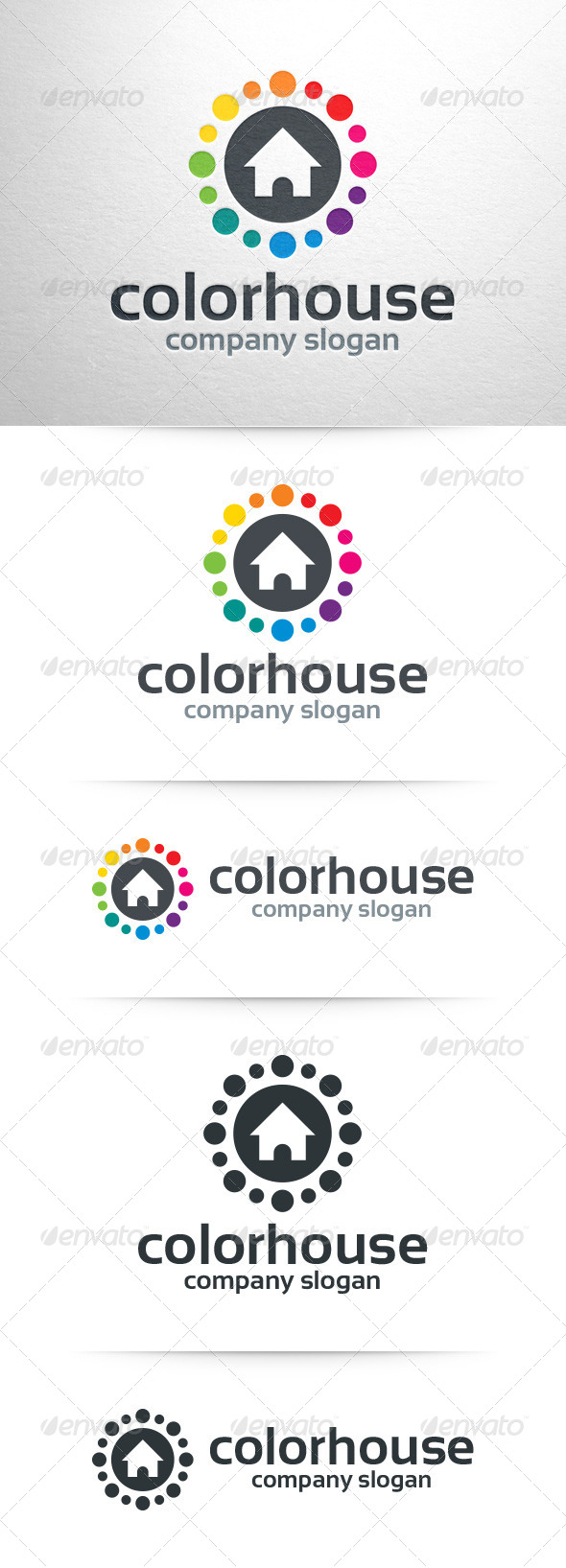GraphicRiver Color House Logo Template 7507697