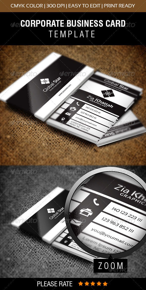 GraphicRiver Global Star International Business Card 7507753