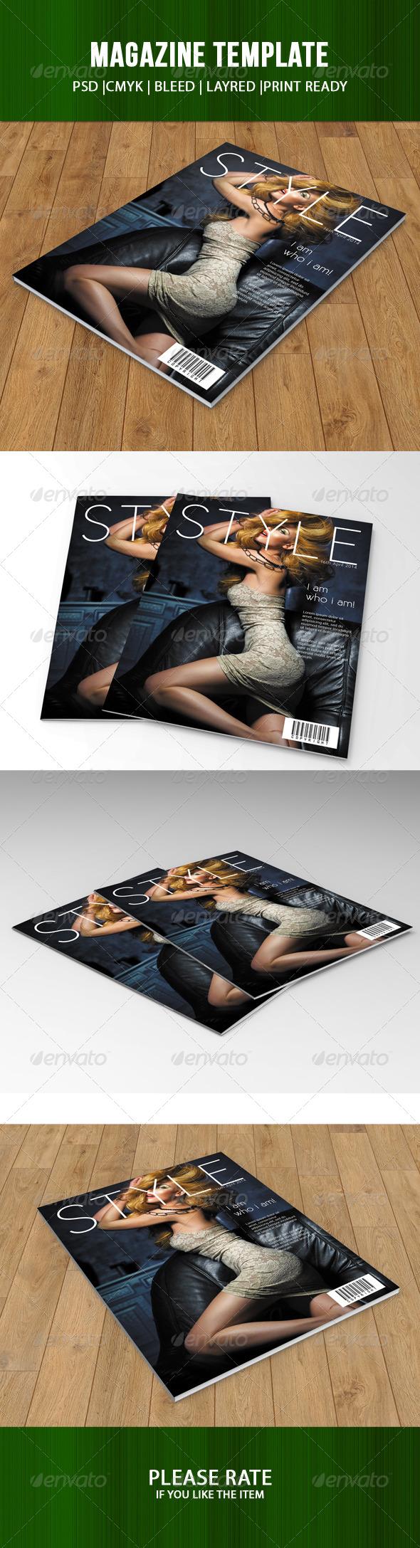 GraphicRiver Magazine Cover Template 7507814