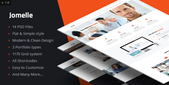 ThemeForest Jomelle Multi-purpose Creative Business PSD 7472137