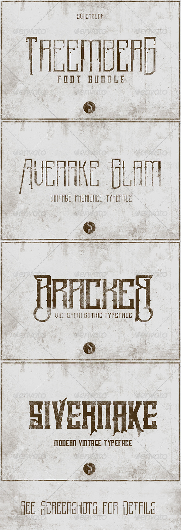 GraphicRiver Treemberg Font Bundle 7508185
