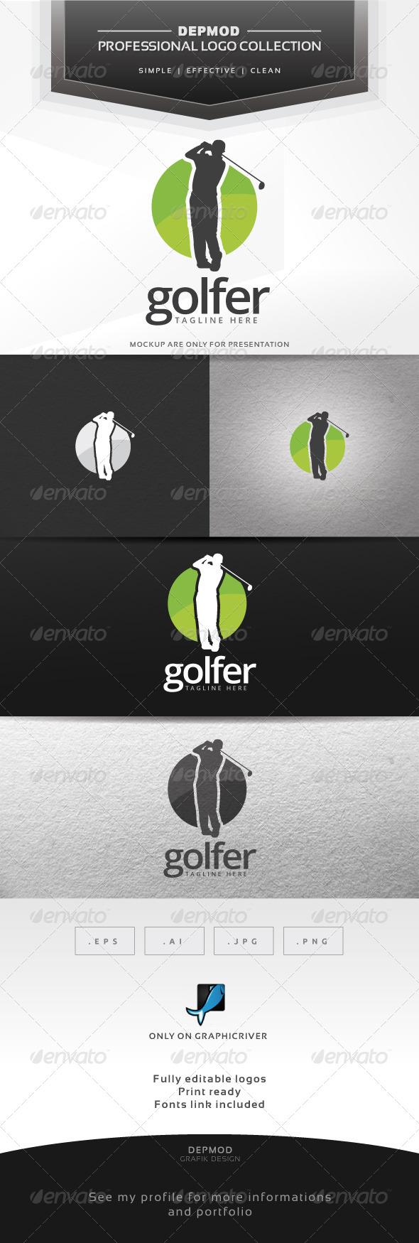 GraphicRiver Golfer Logo 7508352