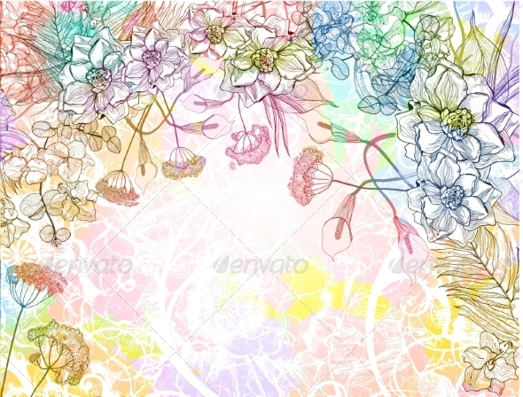 GraphicRiver Floral Background 7508595