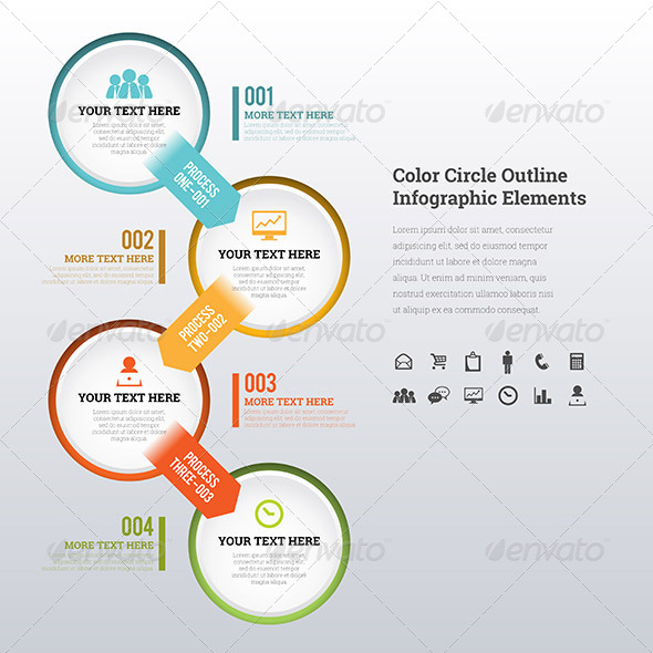 GraphicRiver Color Circle Outline Infographic Elements 7508616