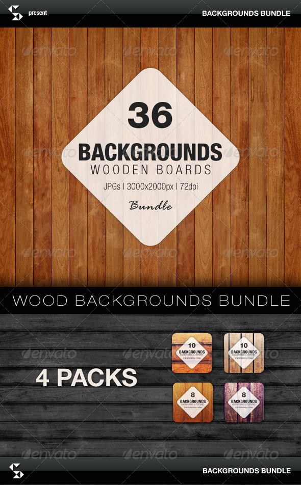 GraphicRiver Wooden Boards Backgrounds Bundle 7508889