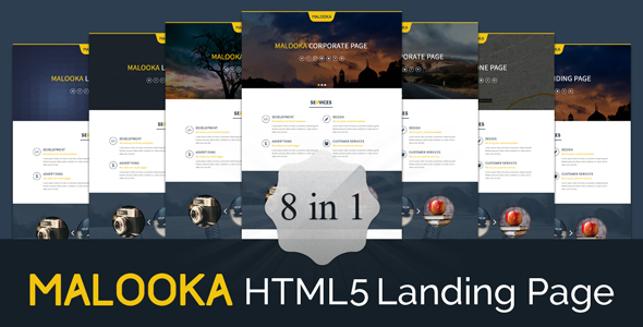 ThemeForest Malooka Landing Page Template 7508907
