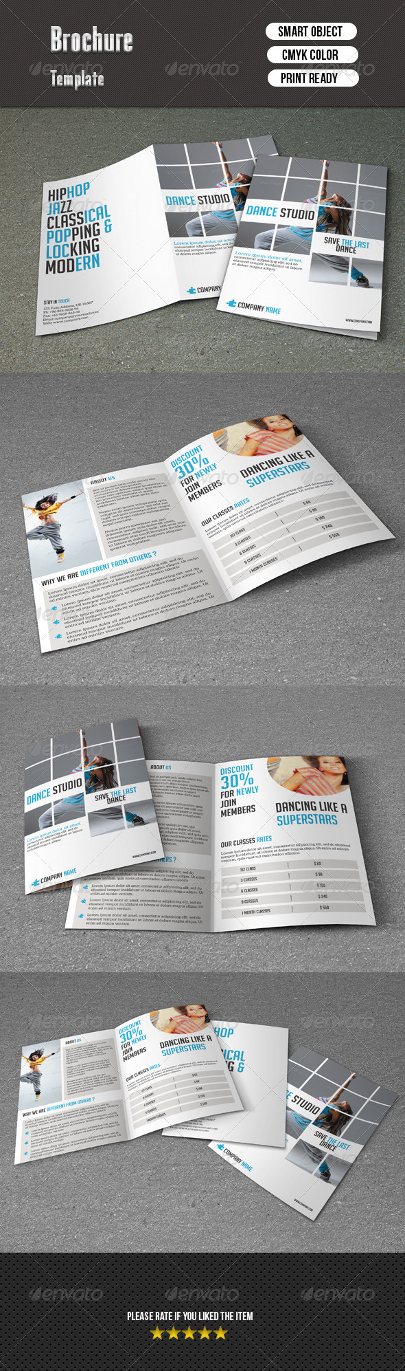 GraphicRiver Dance Studio Brochure 7508911