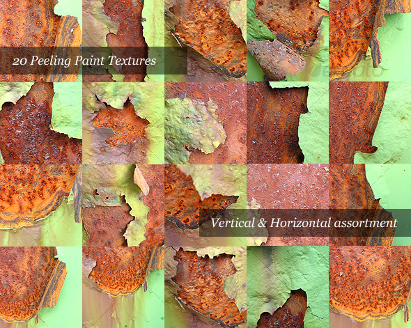 GraphicRiver Rusty Peeling Paint Pack of 20 Photos 31880