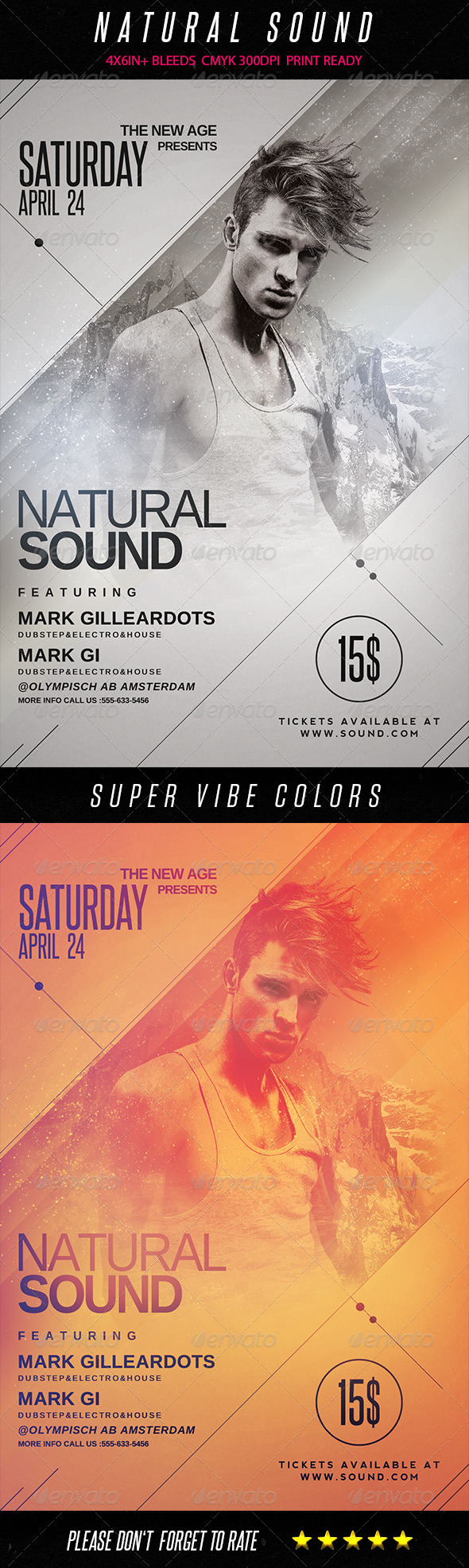 GraphicRiver Natural Sound Flyer Template 7509734