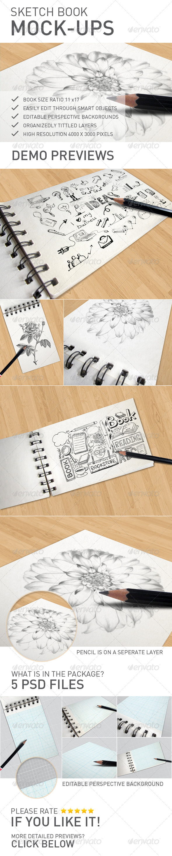 GraphicRiver Sketch Book Mock-ups 7510014