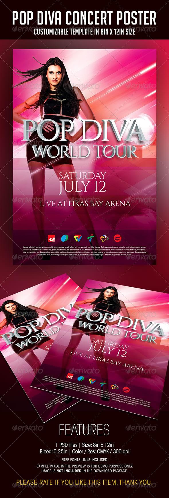 GraphicRiver Pop Diva Live Concert Poster 7510028