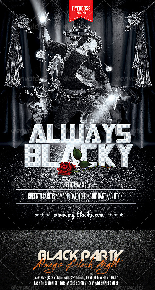 GraphicRiver Black Party Flyer 7510042