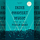 Indie Concert Music Flyer Template - GraphicRiver Item for Sale