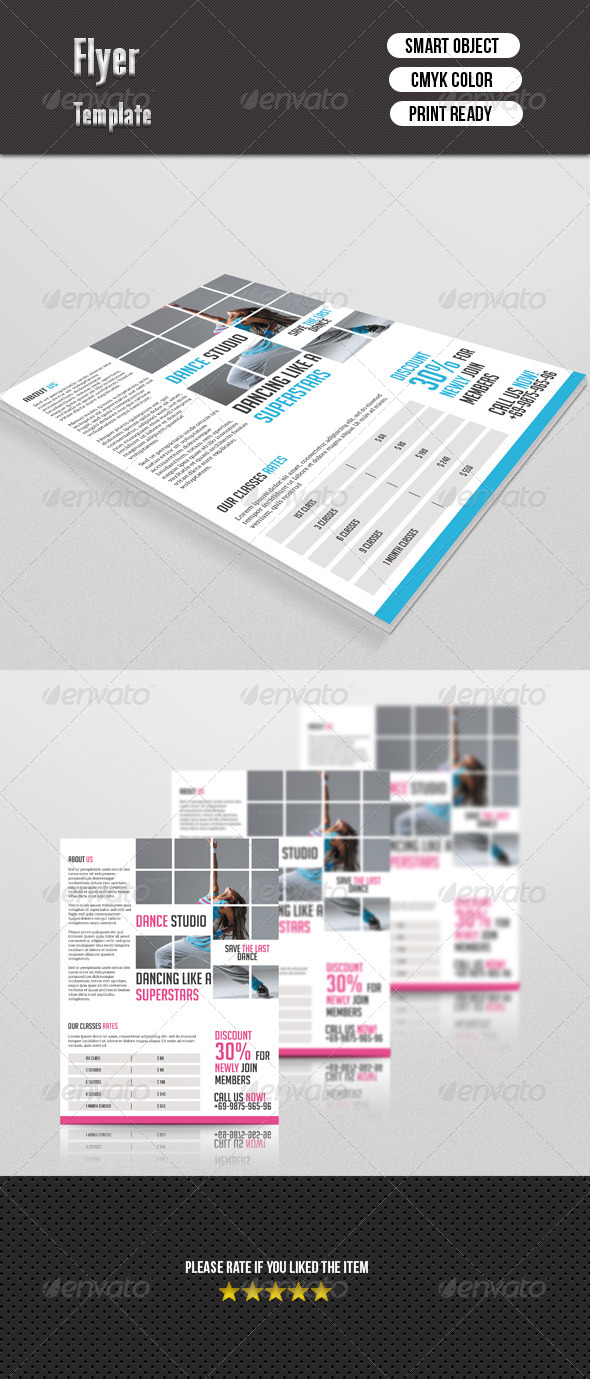 GraphicRiver Dance Studio Flyer 7510204