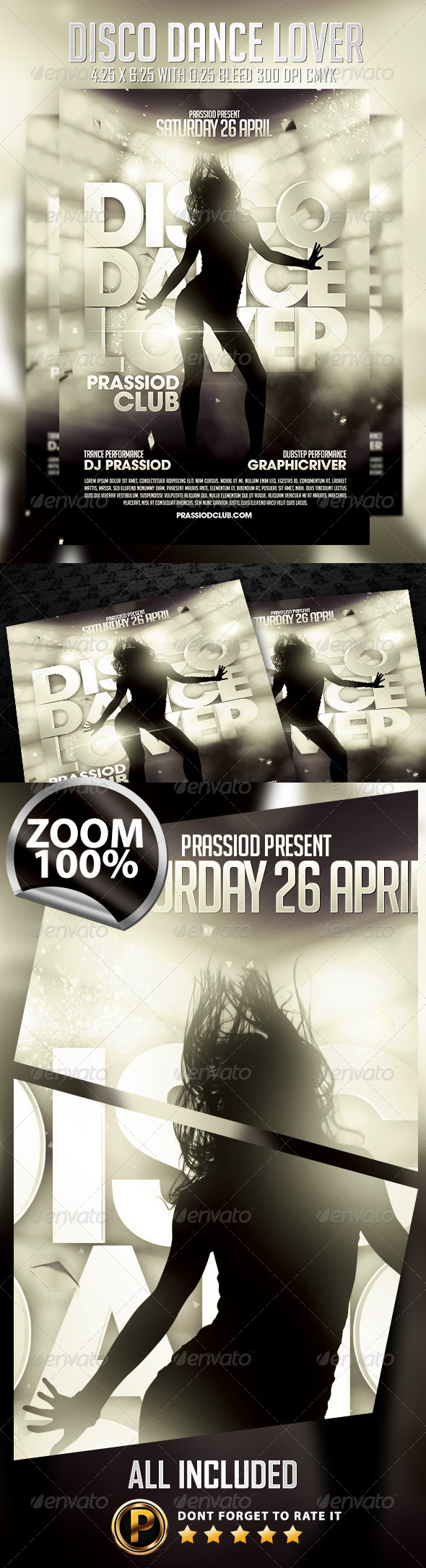 Disco Dance Lover Flyer Template - Clubs & Parties Events