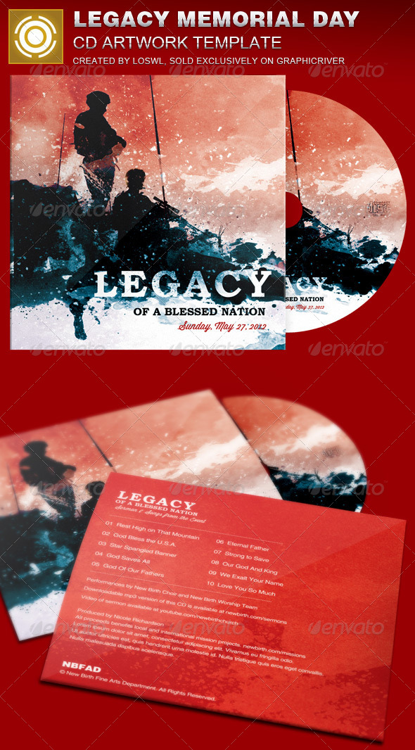 GraphicRiver Legacy Memorial Day CD Artwork Template 7510348