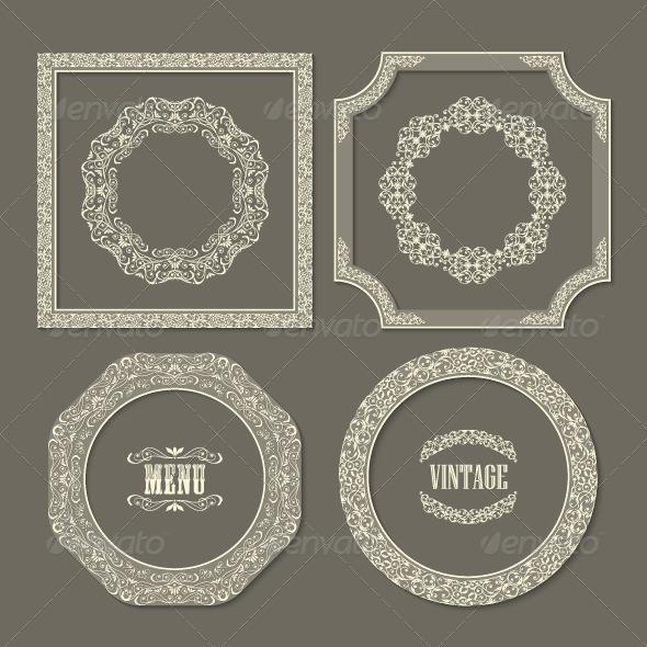 GraphicRiver Set of Vintage Frame Borders 7510357