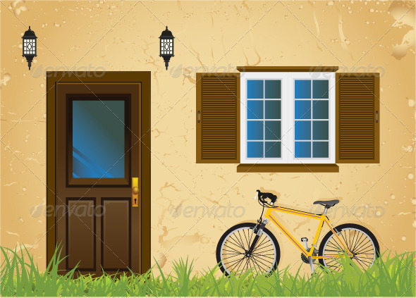 GraphicRiver Bicycle and Old House 7510396