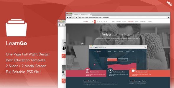 ThemeForest LearnGo Education Learning Landing Page 7510405