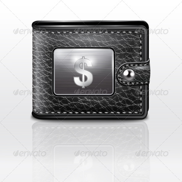 GraphicRiver Leather Wallet with USA Dollar Sign 7510409