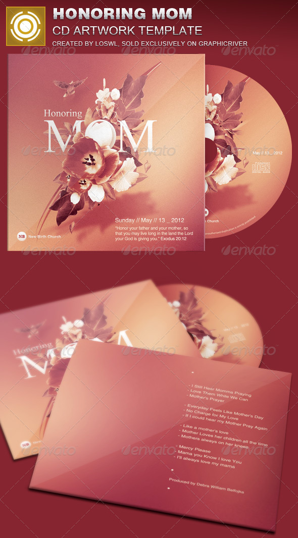 GraphicRiver Honoring Mom CD Artwork Template 7510440