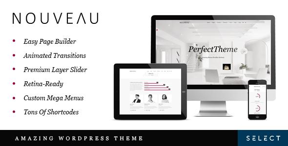 ThemeForest Nouveau Multi-Purpose Retina WordPress Theme 7510444