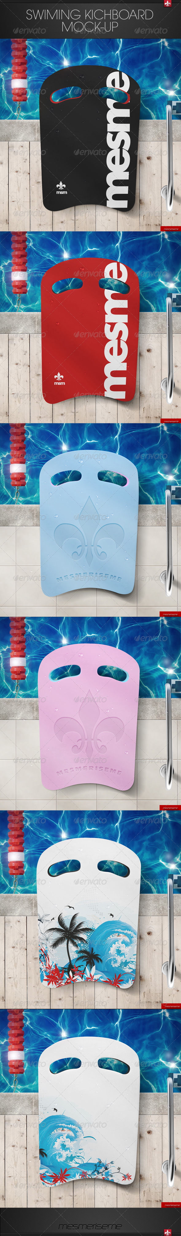 GraphicRiver Swimming Kickboard Mock-up 7510543