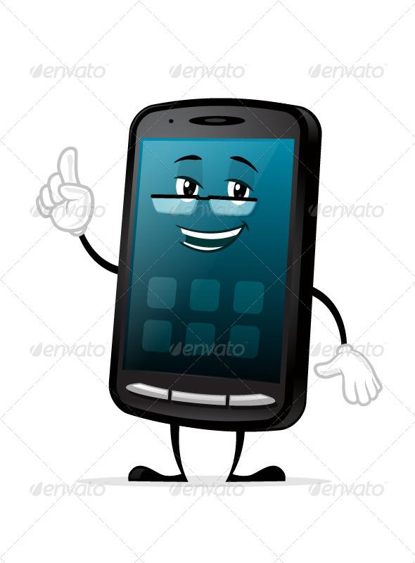GraphicRiver Smartphone Mascot 7510549