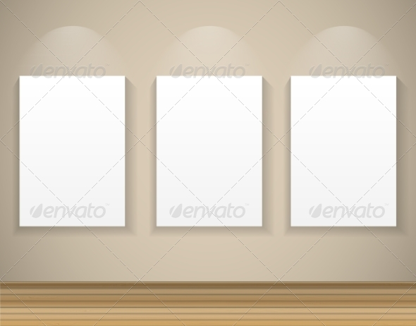 GraphicRiver Frame on Wall for Your Text and Images Vector Ill 7510600