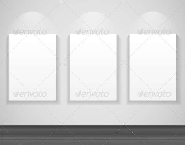 GraphicRiver Frame on Wall for Your Text and Images Vector Ill 7510605